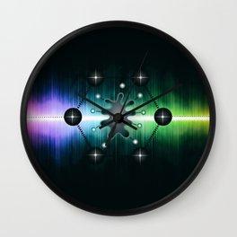 Neuromorphic Chip - Futuristic Technology Wall Clock