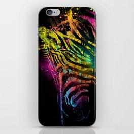 Zebra Mood Technicolor iPhone Skin