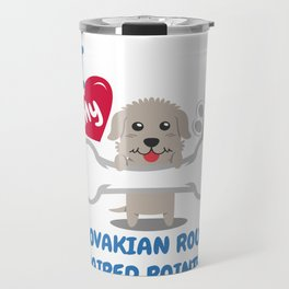 SLOVAKIAN ROUGH HAIRED TERRIER - I Love My SLOVAKIAN ROUGH HAIRED TERRIER Gift Travel Mug