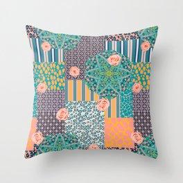 Kaleidoscopic Safari Throw Pillow