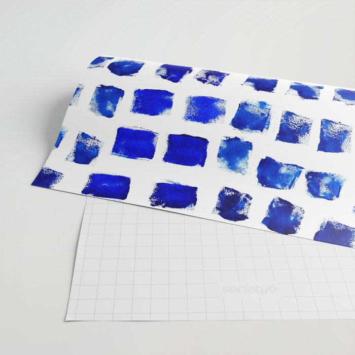 Blue brush Wrapping Paper