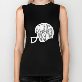 Football It's The Most Wonderful Time of The Year Biker Tank