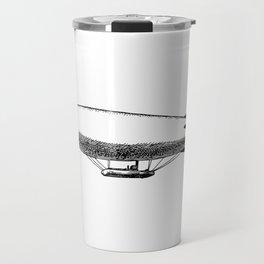 Flying Blimp Detailed Illustration Travel Mug