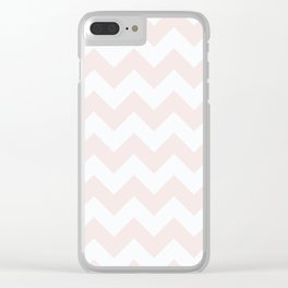 Chevrons - Pink & Cream Clear iPhone Case