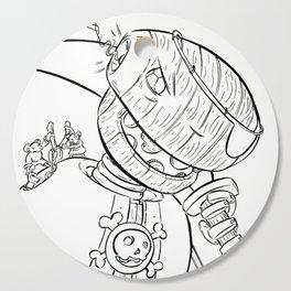 Robot Pirate - ink Cutting Board