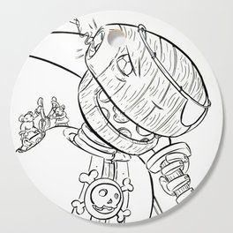 Robot Pirate - ink Cutting Board
