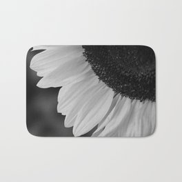 Black and White Sunflower Photography Print Bath Mat