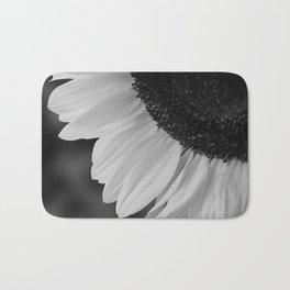 Black and White Sunflower Photography Print Bath Mat