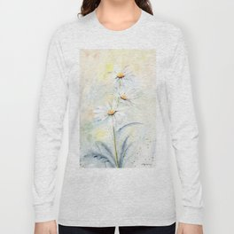 White Daisies Long Sleeve T-shirt