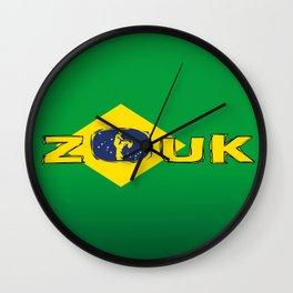 colors of brazil - lets dance brazilian zouk Wall Clock