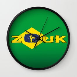 colors of brazil - lets dance brazilian zouk Wall Clock