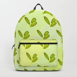 Bright and stylish retro botanical interior design and textile design pattern on yellow Backpack