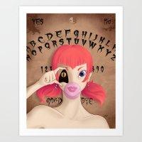 "ouija Art Prints featuring ""Ouija"" by ZombieTeddie"
