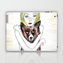 Girl with a dog Laptop & iPad Skin