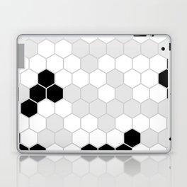 Honeycomb Pattern | Black and White Design | Minimalism Laptop & iPad Skin