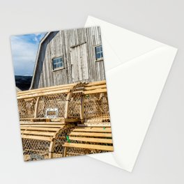 Lobster Traps on the Wharf Stationery Cards