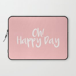 Oh! Happy Day Pink Laptop Sleeve