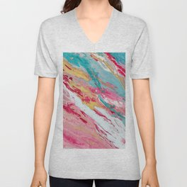 Spring coloured Unisex V-Neck
