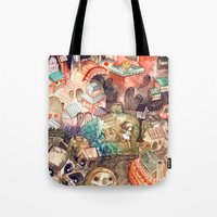 spirited away Tote Bags featuring Spirited Away by Foya