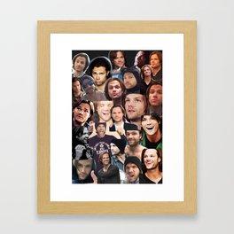 Jared Padalecki Collage Framed Art Print