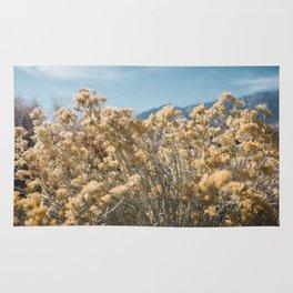 California Yellow Flowers Rug