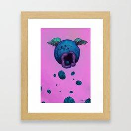 BlueFruitSnacks Framed Art Print