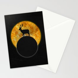 Deer Walking On The Moon Stationery Cards
