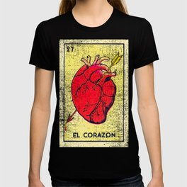 El Corazon Mexican Loteria Bingo Card T-shirt