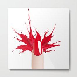 Red nail Metal Print