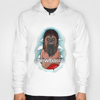 chewbacca Hoodies featuring CHEWBACCA by Morbix