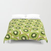 kiwi Duvet Covers featuring Kiwi by StrawberryBlossoms