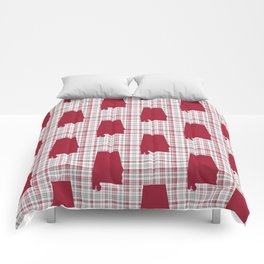 Bama alabama crimson tide pattern gifts for university of alabama students and alumni Comforters