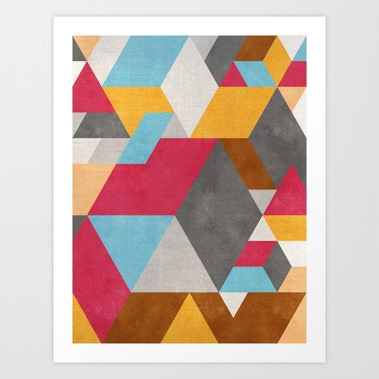 Geometric illusion art print by francisco valle society6 for Geometric illusion art