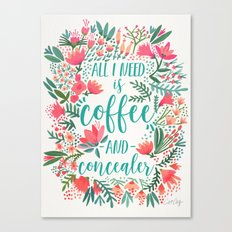 Coffee & Concealer – Juicy Palette Canvas Print