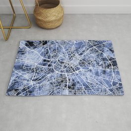 Manchester England City Street Map Rug