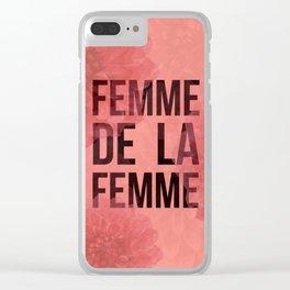 Femme De La Femme Flowers Clear iPhone Case