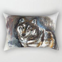 Totem Timber Wolf Rectangular Pillow