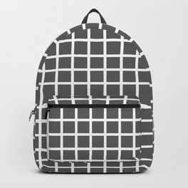 Grid (White & Grey Pattern) Backpack