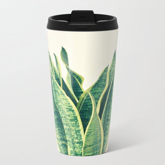Snake Plant Metal Travel Mug