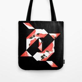 Tangram Koi - Black background Tote Bag