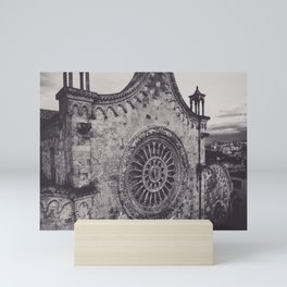 Aerial photography, Ostuni Cathedral, gothic architecture, Roman Catholic Church Mini Art Print
