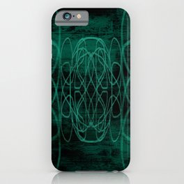 Grunge in Teal II iPhone Case