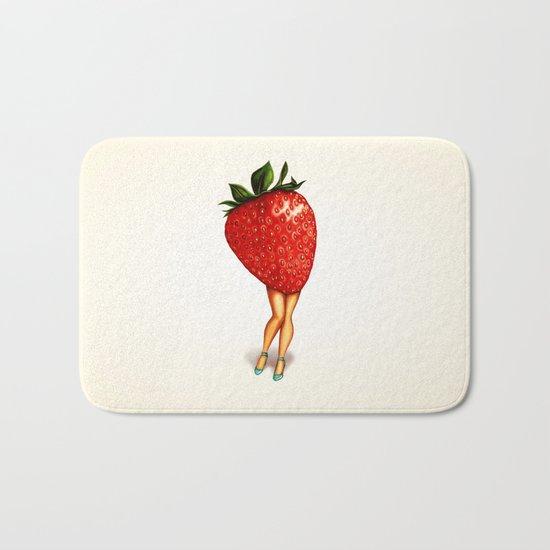 Strawberry Girl Bath Mat
