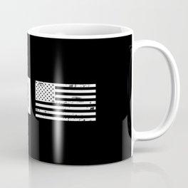 Black & White U.S. Flag: Arizona Coffee Mug