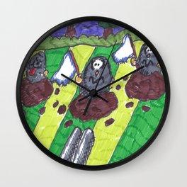 Surrendering Moles Wall Clock