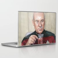 picard Laptop & iPad Skins featuring Captain Picard Earl Grey Tea | Star Trek Painting by Olechka