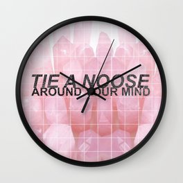 tie a noose around your mind -- rose quartz -- twenty one pilots Wall Clock