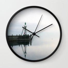 Rorschach Harbor III Wall Clock