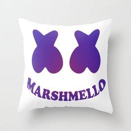 Purple in Marshmello Throw Pillow