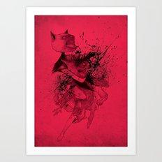 CATFIGHT! Art Print